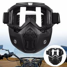 Motorcycle Detachable Modular Helmet Face Mask Mouth Filter Shield Clear Goggles