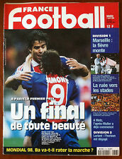 FRANCE FOOTBALL 7/04/1998; Mondial 98/ Marseille/ PSG/ Lorient/ Metz