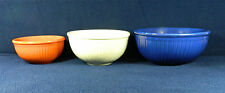 """COMPLETE SET OF 6 RED WING """"REED"""" PATTERN DINNERWARE MIXING BOWLS - CIRCA 1935"""