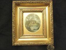 Antique Art  Miniature CLAREMONT PARK Nat Trust property Beautiful Frame (2/2)