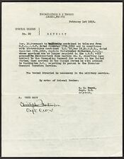 """Significant Christy Mathewson Full Name Signed """"Special Orders"""" Document JSA LOA"""