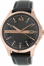 Armani Exchange Men's AX2129 'Classic' Black Leather Watch