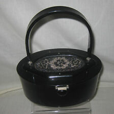 RIALTO 1950s LUCITE PURSE WITH BEADED TOP