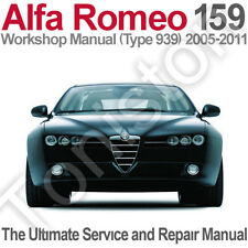 Alfa Romeo 159 (Type 939) 2005 to 2011 Workshop, Service and Repair Manual on CD