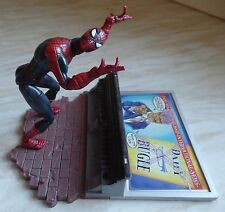 """Marvel spiderman 6"""" classics figure series ii & montage mural daily bugle stand"""