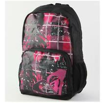 WOMEN'S GIRLS ROXY CLEAR SIGHT BACKPACK PINK BLACK LOGO SCHOOL BAG NEW $55