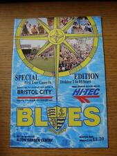 17/08/1991 Southend United v Bristol City [1st Game In Division 2 In 85 Years] (