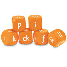 Learning Resources - Letters & Sounds Phase Two Soft Foam Cubes (set of 6 dice)