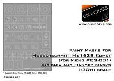 DN Models 1/32 Mask Me163B Komet Messerschmitt Insignia + Canopy for Meng QS-001