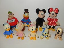 LOt 9 figurines DISNEY Family MICKEY Raptou Picsou Donald bébés SIMBA Vintage 80