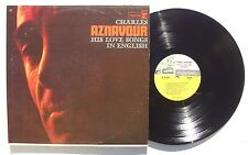 CHARLES AZNAVOUR His Love Songs In English LP REPRISE R6157 US 1965 MONO NM