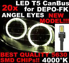 N° 20 Gloeilampen LED T5 Wit 4000K SMD 5630 Koplampen Angel Eyes DEPO FK 12v 1D5