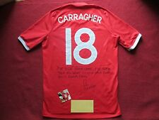 LIVERPOOL ENGLAND JAMIE CARRAGHER HAND SIGNED RARE ENGLAND SHIRT-NEW-EXACT PROOF