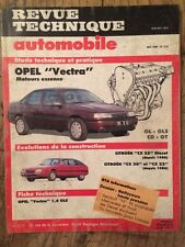 Revue Technique Automobile OPEL Vectra moteurs essence GL - GLS - CD - GT