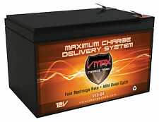 VMAX64 12V 15Ah Invacare Lynx L4 AGM SLA Scooter Deep Cycle Battery Upgrade 12ah