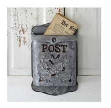 Metal Wall Mounted Post box~Mail box~Vintage Style Stamped Galvanized Tin