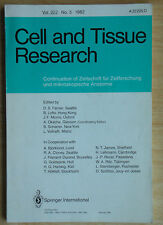 BOOK: CELL AND TISSUE RESEARCH Vol.222 : No.3 : 1982 Springer International