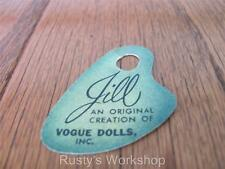 Made For 1950's VOGUE JILL Dolls, A WRIST hang TAG   (Reproduction)