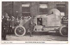 auto blindée utilisée par les belges