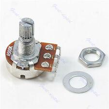 New 3 pcs A500K Split Shaft Pots Potentiometer Guitar Audio Tone Switch