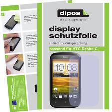 2x HTC Desire C lámina protectora mate protector de pantalla antireflex encaja perfectamente