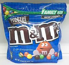 M&M's Pretzel Chocolate Candies Family Size Bag 15.4 oz  M&M M&M's m & m