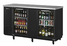 60IN NARROW DEPTH BACK BAR COOLER W/ GLASS DOORS
