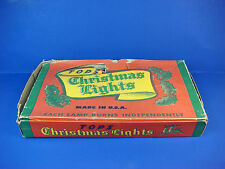 Vintage 3 Sets NOMA Tops Real Light Colored Christmas Tree Lights Holiday Work