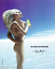 PUBLICITE ADVERTISING 125  2002  THIERRY MUGLER  parfum eau COLOGNE  femme
