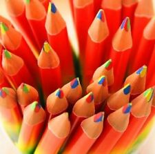 FD4268 4in1 Rainbow Colors Pencil Wooden Made Artist Drawing Writing Sketching☆