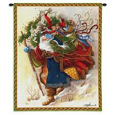 34x26 SANTA CLAUS Father Christmas Toys Holiday Tapestry Wall Hanging