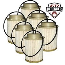 6 - Diesel Fuel Filters fits 10-16 Dodge Ram Cummins 6.7L Turbo Front