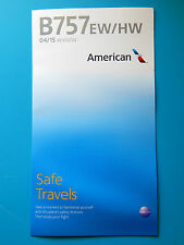AMERICAN AIRLINES SAFETY CARD--757 INTERNATIONAL