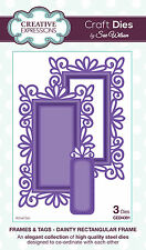 CREATIVE EXPRESSIONS Dies Sue Wilson DAINTY RECTANGULAR FRAME CED4301 - IN STOCk
