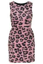 Topshop esponjoso Leopardo Animal Print Mini Turno Vestido Rosa UK 4 RRP £ 60