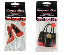 2 x Car Air Fresheners Shoes & Handbag Strawberry Scent Home Office Freshener