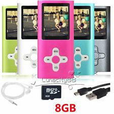 MP3 MP4 Players Portable Voice Recording Media Videos Music Player + 8GB SD Card