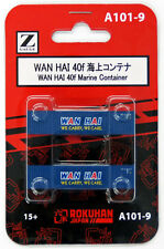 Rokuhan A101-9 Z Scale WAN HAI 40f Marine Container 2 pcs.
