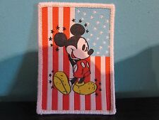 Disney Mickey Mouse American Flag Iron On Sew On Patch