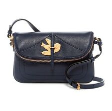 NWT MARC JACOBS Petal to the Metal Percy Leather Crossbody Navy Blue $278 AUTH