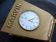 VINTAGE MARVIN WATCH CO 1950's  REFORM BREVET WHITE  DIAL WATCH