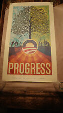 Scott Hansen Barack Obama campaign print poster limited addition official Fairey