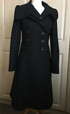 Reiss Fleur Fit And Flare Coat - Black - Size Small - Discontinued