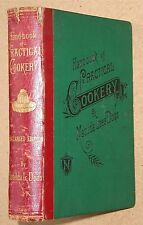 1886 Handbook of Practical Cookery. By Matilda Lees Dods. Engraved plates etc