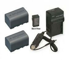 TWO 2 BN-VF815U BNVF815U BN-VF815 Battery + Charger for JVC GC-PX10 GY-HM150