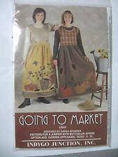 SEWING PATTERN FOR JUMPER WITH BUTTON ON APRON 'GOING TO MARKET' SZ: S - XL