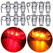 6pairs LED Red/Amber Clearance Light Universal RV Truck Trailer Boat Side Marker