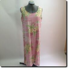 Boca Wear Pink and Green Casual Dress large