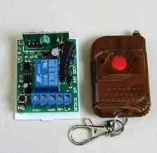 DC24V 1 Channel RF Wireless Remotes And Relay Receiver WH UK