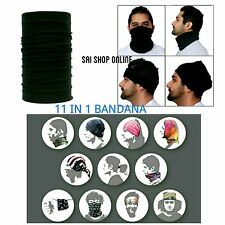 BLACK COLOR 13 in1 Multifunctional Headwrap / Bandana bikers/ Face  Mask -- Gift